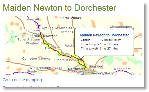 Maiden Newton to Dorchester Cycle Path