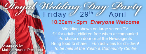 royal wedding day party advert