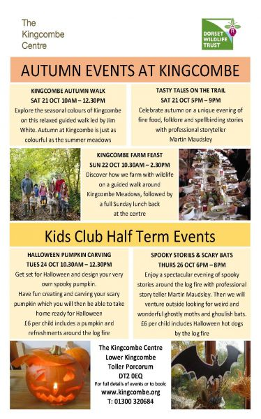 Autumn Events at Kingcombe Centre
