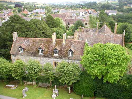 maiden newton manor from st marys roof