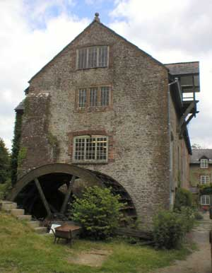 maiden newton mill, waterwheel