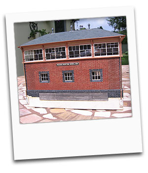 Model of Maiden Newton Signal Box made by Gerry Neale